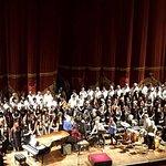 En función privada de la MISA CRIOLLA, participando en el coro En Voz Alta