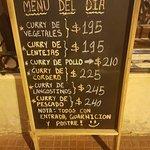 Alternativas de menu del día