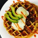 Jalapeno Cheddar Waffle