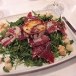 Mediterranean salad with iberico ham and goats cheese