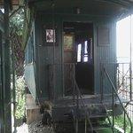 Les toilettes, un ancien wagon
