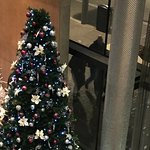 Christmas tree in the foyer