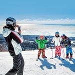 Family skiing at Lutsen