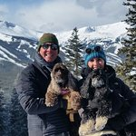 Our snow shoeing day with the pups!