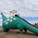 Giant dinosaur from the Flinstones cartoon (Fred's work vehicle)