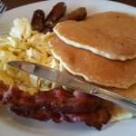 Pancakes, Eggs, Bacon and Sausage