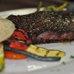 Peppercorn NY Strip steak.
