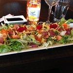 Sashimi Salad at Bambus