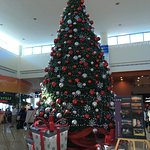 Airport decorated for Christmas