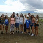 On Lake Nicaragua with a family of tourists from the United States of America