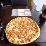 Die leckere italienische Pizza Diavolo