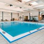 Heated indoor pool.