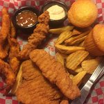 combo with catfish strips and chicken fingers