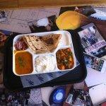 Mmmmmm Daily Thali for my birthday lunch. So Happy!