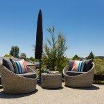 Orange Apartment patio & outdoor furniture