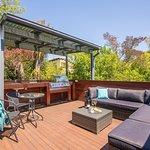Blue Studio deck and outdoor kitchen
