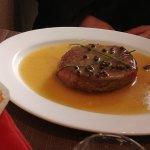 Tortelli zucca e noci, Filetto al pepe verde con erba cipollina, Involtini di vitello con ripien