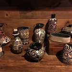 Lenca pottery in the gift shop