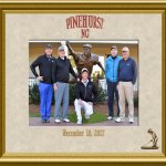 """Four Golfing Friends and our newest friend """"our"""" Caddie Ryan"""