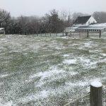 Snowy scape in Lititz Pennsylvania along the trail