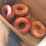 Strawberry Glazed and Original Glazed Doughnuts! - So good!