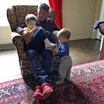 Host Ian entertaining both our little ones