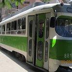 Ancient trams still trundling along in Alexandria