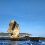 Batu Payung Lombok look like umbrella stone
