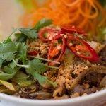 Vietnam Nudeln mit Kräutern