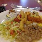 almoco com muita variedade estilo sefl service