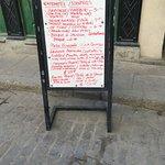 Street menu
