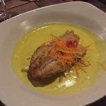 Fisch mit Kurkumasauce (a little spicy....)