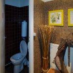 Vue des toilettes (en sous-sol)