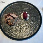 Dessert marron cassis