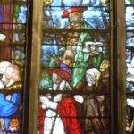 Détail vitrail : les gouffiers