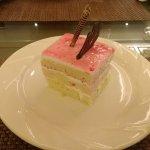 Yummy strawberry cake freshly prepared by the chef...