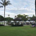 Hotel ground facing the beach.