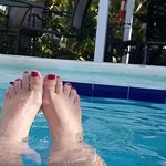 Relaxing in the pool