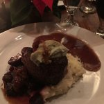 Filet with Mashed Potatoes and beets