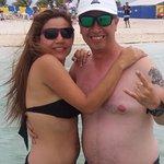 Juntosa y felices en nuestras vacaciones por las Bahamas
