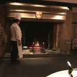 暖炉で焼きます
