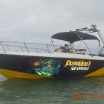 Our 7 meter 150 HP Speed Boat.