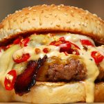 Chilli Cheese Bomb Burger