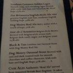 Beer selection menu