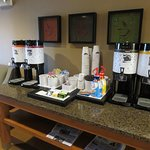 Water for Members is a nice touch. Online Check-in offers no choices Breakfast is good