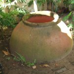 Camaguey water vessel in the garden