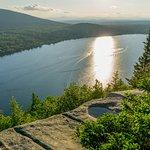 Coucher de soleil sur le lac Lyster
