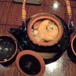 This was chef's special, variety of mushroom with seafood with clear broth. AMAZING!!