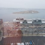 View of the Halifax harbor from my room on the 10th floor.