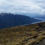 View down to Lake Te Anau and Luxmore Hut